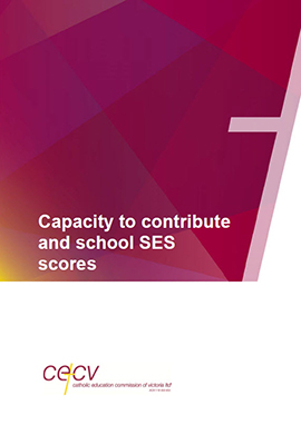 Capacity to Contribute and School SES Scores